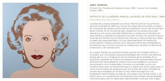 Amalia Fortabat by Andy Warhol - Collection Fortabat Puerto Madero