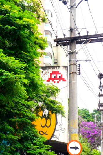 Space Invader - cool Street Art Sao Paulo - blog voyage