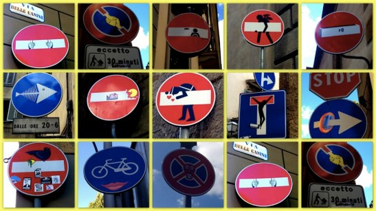 Clet à Florence - Street art Florence - Cool Florence - Cool Clet Street Art